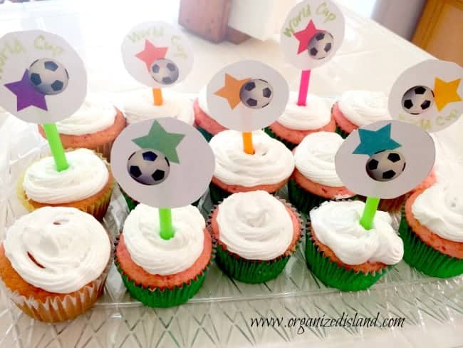 World Cup Cupcake Toppers