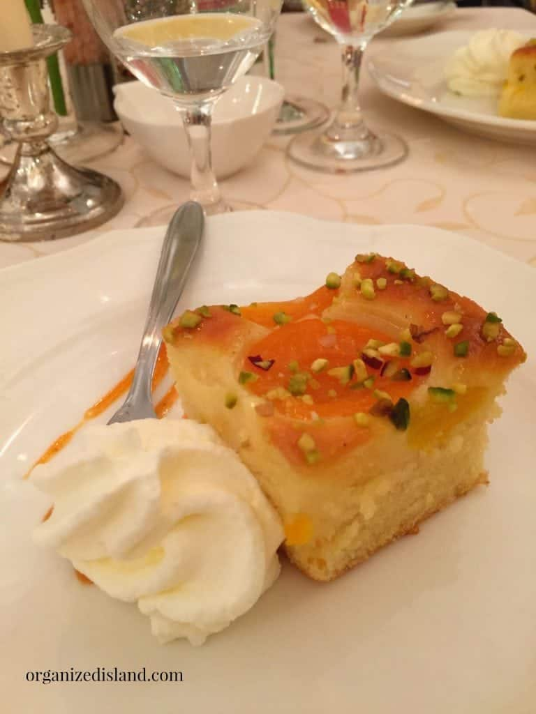 Apricots are everywhere in Austria. This Apricot cake with bavarian cream was delightful!