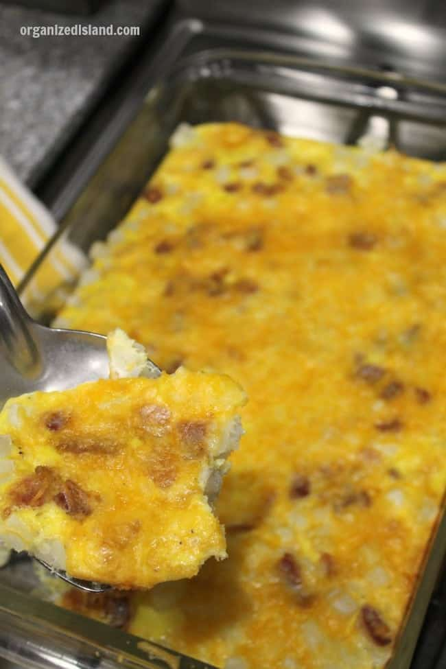 The perfect bacon breakfast casserole for brunch time!