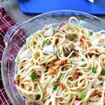 This easy Chicken pasta recipe with Bacon and Gouda is as delicious as it is easy! A weeknight favorite for sure!
