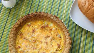 Easy Bacon Cheese Quiche Recipe