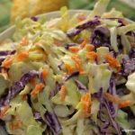 Classic coleslaw recipe - perfect for picnics, festivals and BBQs!