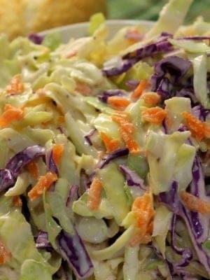 Classic coleslaw recipe - perfect for picnics, festivals and BBQs!