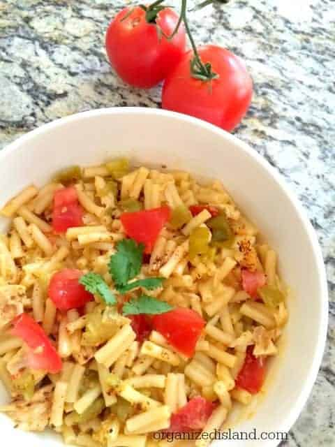 You won't believe how easy this is to make this southwestern macaroni and cheese and it really stretches your dollar!