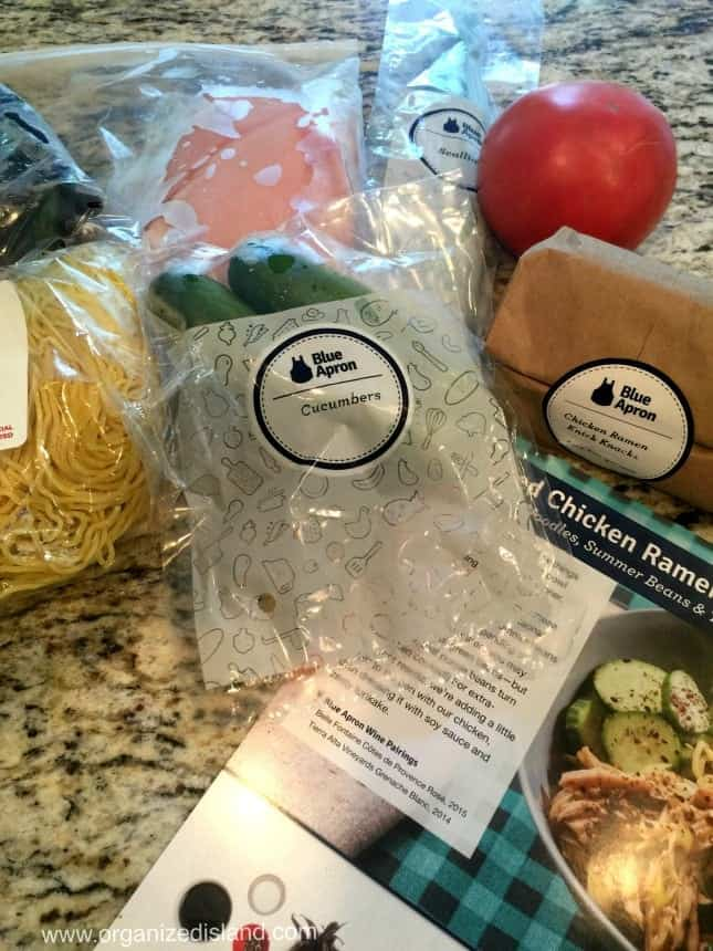 Blue Apron ingredients come right to your door!