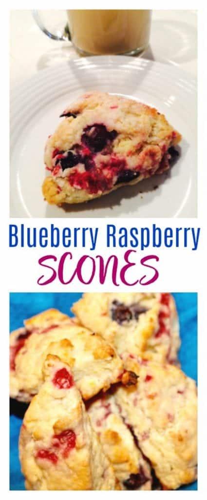 Blueberry Raspberry scones