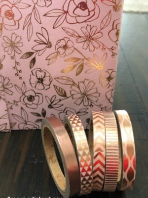 DIY Upcycle Project Pink and Gold Pencil Holder