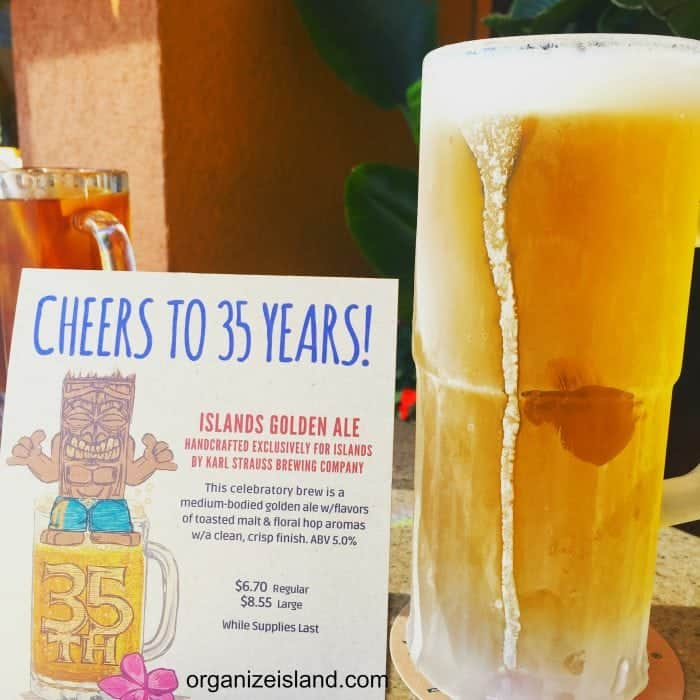 Limited edition ale for Island Burgers 35th Anniversary