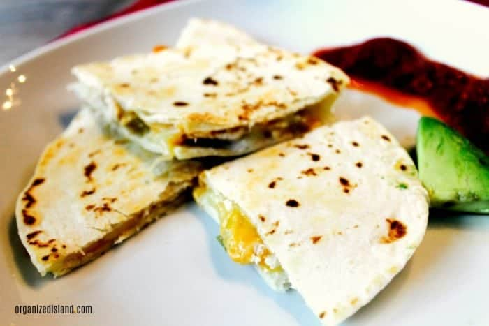 Chicken Green Chili Quesadilla recipe