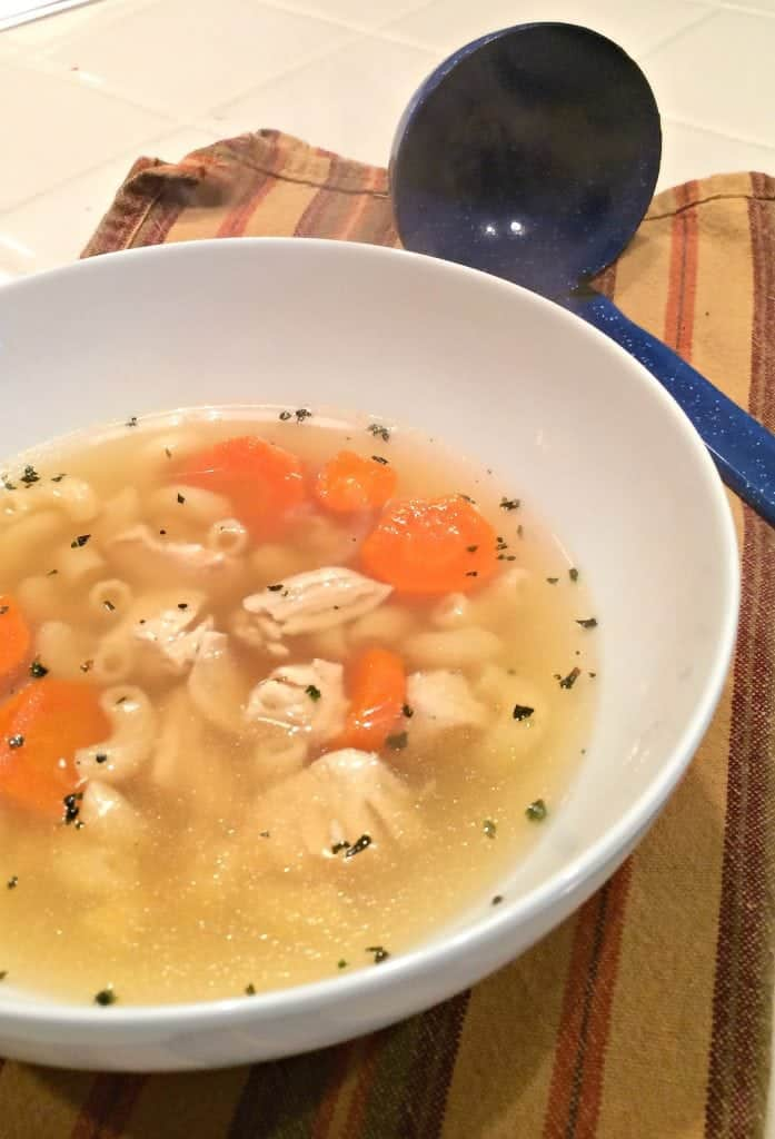 Chicken Soup with Rotisserie Chicken - an easy supper idea when you only have time for a 30 minute dinner.