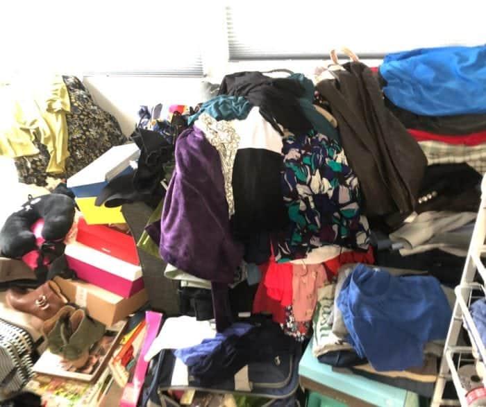 closet clean out clothes