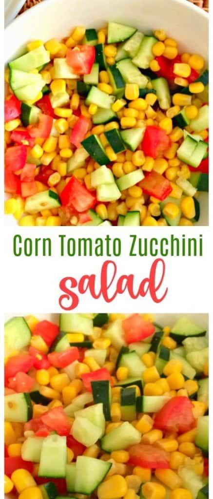 Easy Corn Tomato and Zucchini Salad -