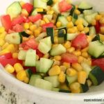 CornTomato and Zucchini Salad