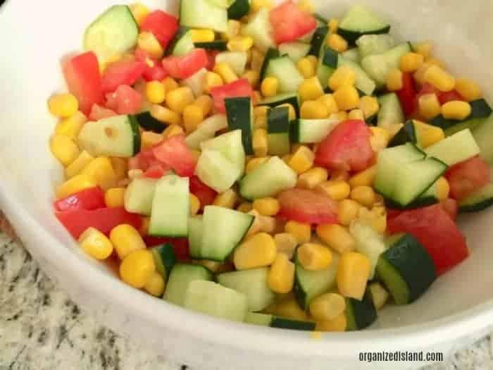 CornTomato and Zucchini Salad