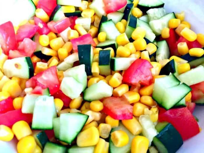 Corn Tomato and Zucchini Salad