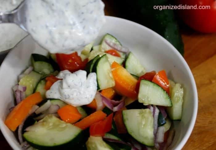 Quick and easy Cucumber Tomato Salad Recipe