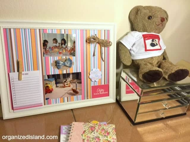Need Bulletin Board Decorating Ideas? This project is made with removable fasteners so you can change it up easily!