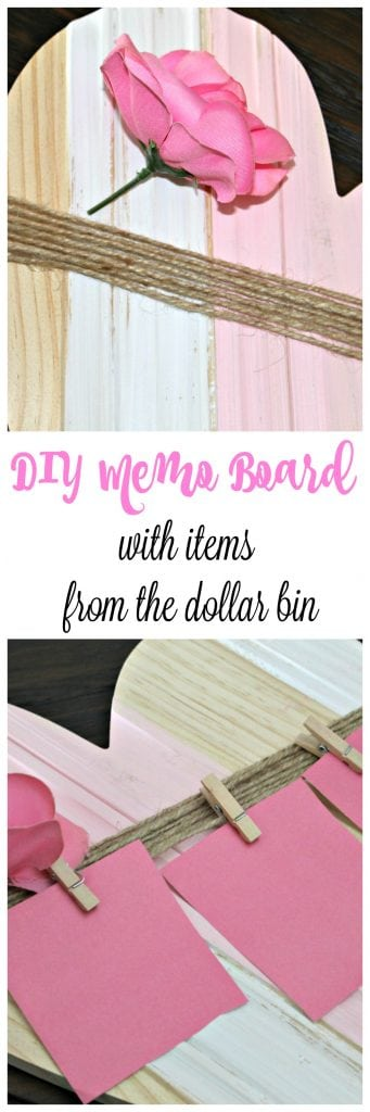 DIY Memo board from items from the dollar bins!