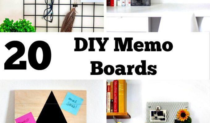 DIY Memo Board Ideas