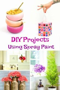 DIY Spray Paint ideas for you home and dorm room.