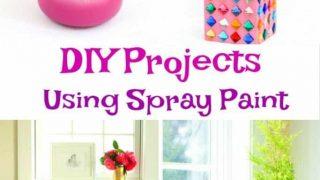 DIY Spray Paint ideas for you home and dorm room.