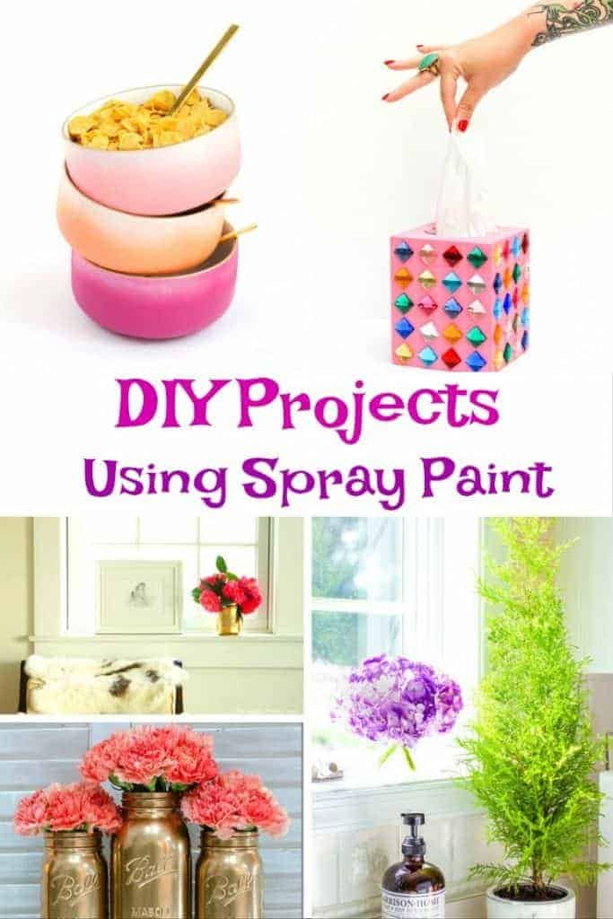 Looking for some DIY Spray Paint projects? Here are some tips and ideas for your home and dorm room.
