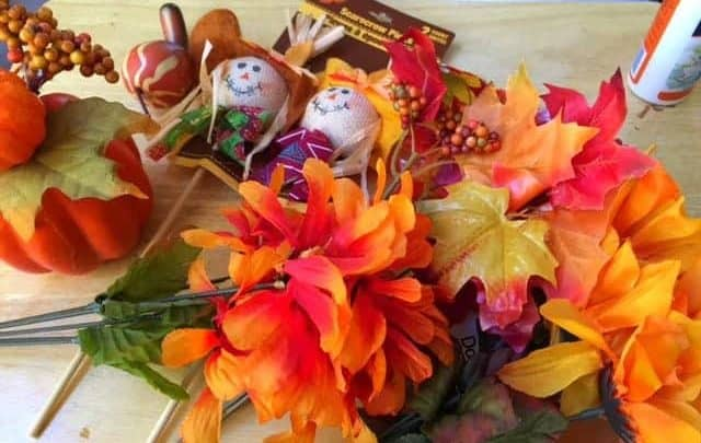 Fall craft supplies from the dollar store