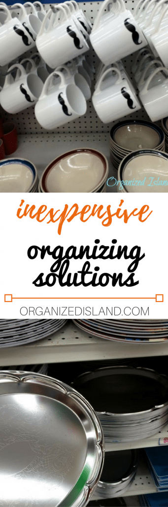 Inexpensive organizing solutions from the dollar store!
