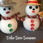 Easy tutorial for dollar store Christmas snowmen! Great craft idea for kids too!
