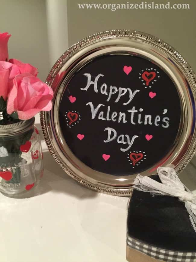 Create some fun Valentine's Day Decor with dollar store items!