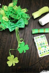 Dollar Store Holiday Crafts - St. Patricks materials