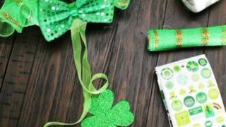 Dollar Store Holiday Crafts - St. Patricks materials