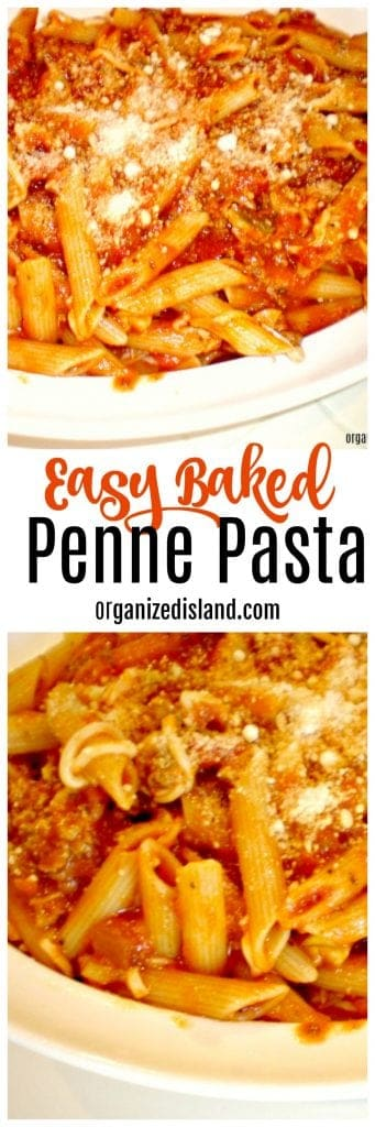 Easy baked penne pasta recipe