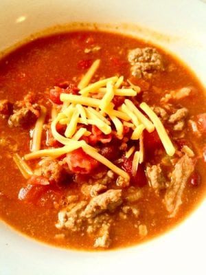 Easy Bacon Chili Recipe - a favorite of ours!
