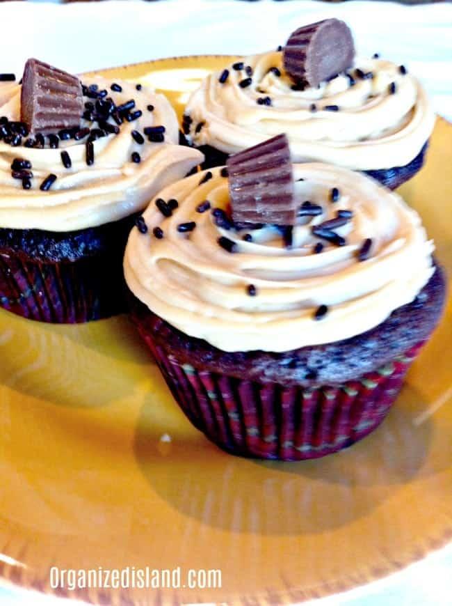 Easy Chocolate Peanut Butter Cupcakes Recipe