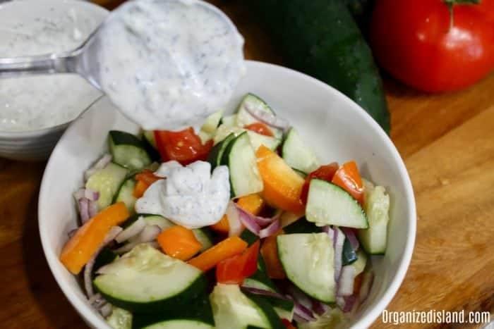 Creamy Cucumber Salad Dressing Recipe