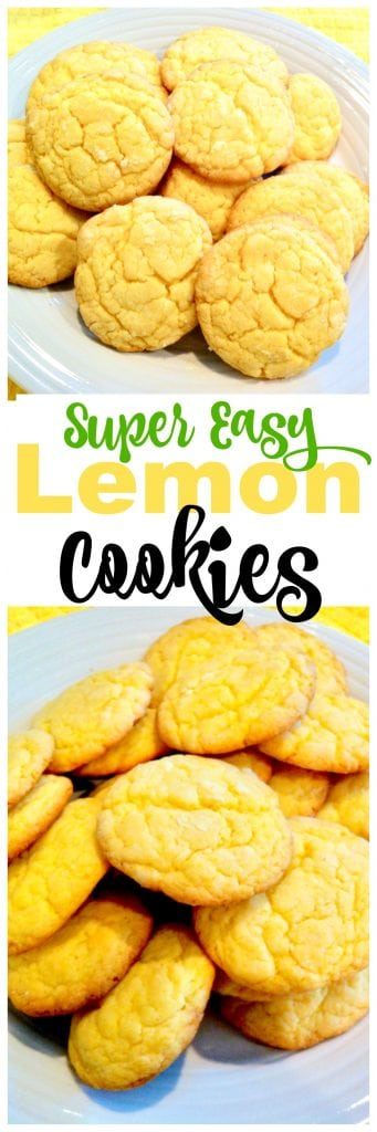 Easy Lemon Cookies from Cake Mix