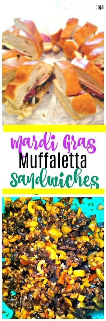 Mardi Gras Recipe - Easy Muffaletta Sandwiches