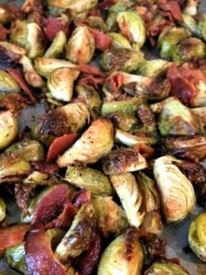 Oven Baked Brussels Sprouts with Bacon Recipe