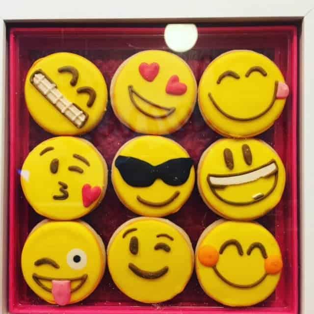 These emoji cookies make a fun hostess gift