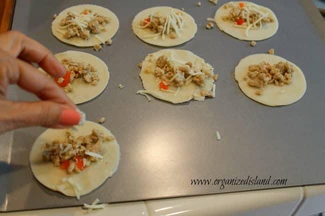 filling empanadas
