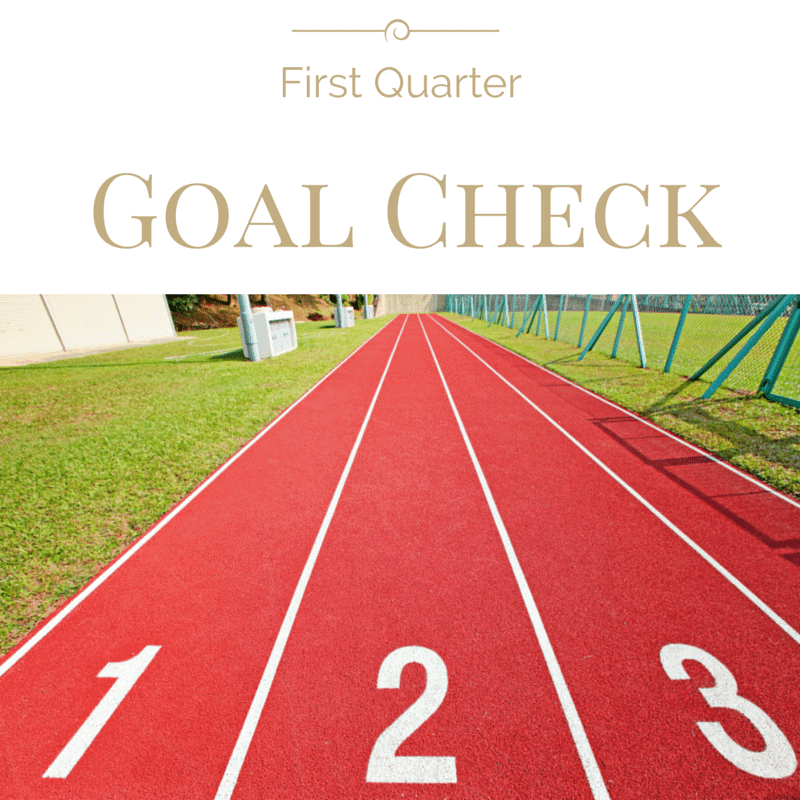 First Quarter Goal Check