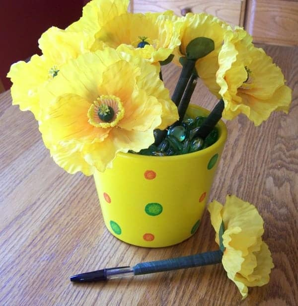 how-to-make-flower-pens