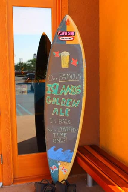 Islands Fine Burgers and Drinks has a special Golden Ale available for a limited time to celebrate their anniversary!