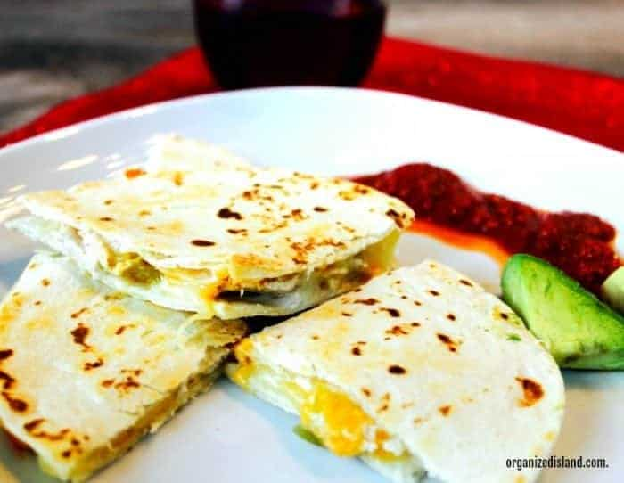 This easy Green Chili and Chicken Quesadlla can be made easily with ingredients you have on hand,