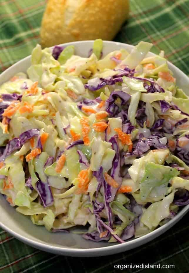 Homestyle coleslaw recipe - perfect for picnics, festivals and BBQs