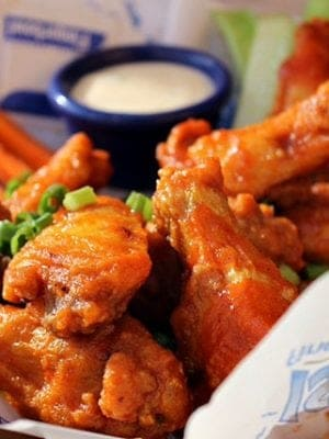 Try the honey-sriracha chicken wings at Islands. So tasty and tangy!