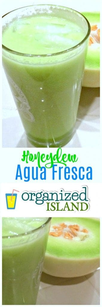 Easy Honeydew Agua Fresca Recipe - a refreshing non-alcoholic drink for summer!