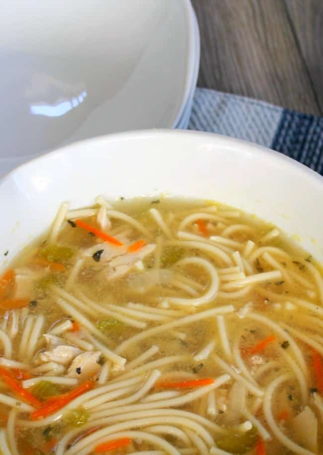 Chicken Soup With Spaghetti Noodles
