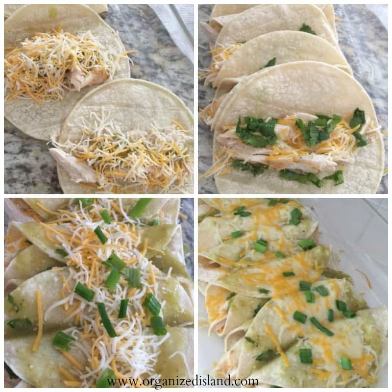 These Easy Chili Verde Enchiladas are so good and authentic, no one will ever guess you made them in less than 30 minutes! My family loves them!